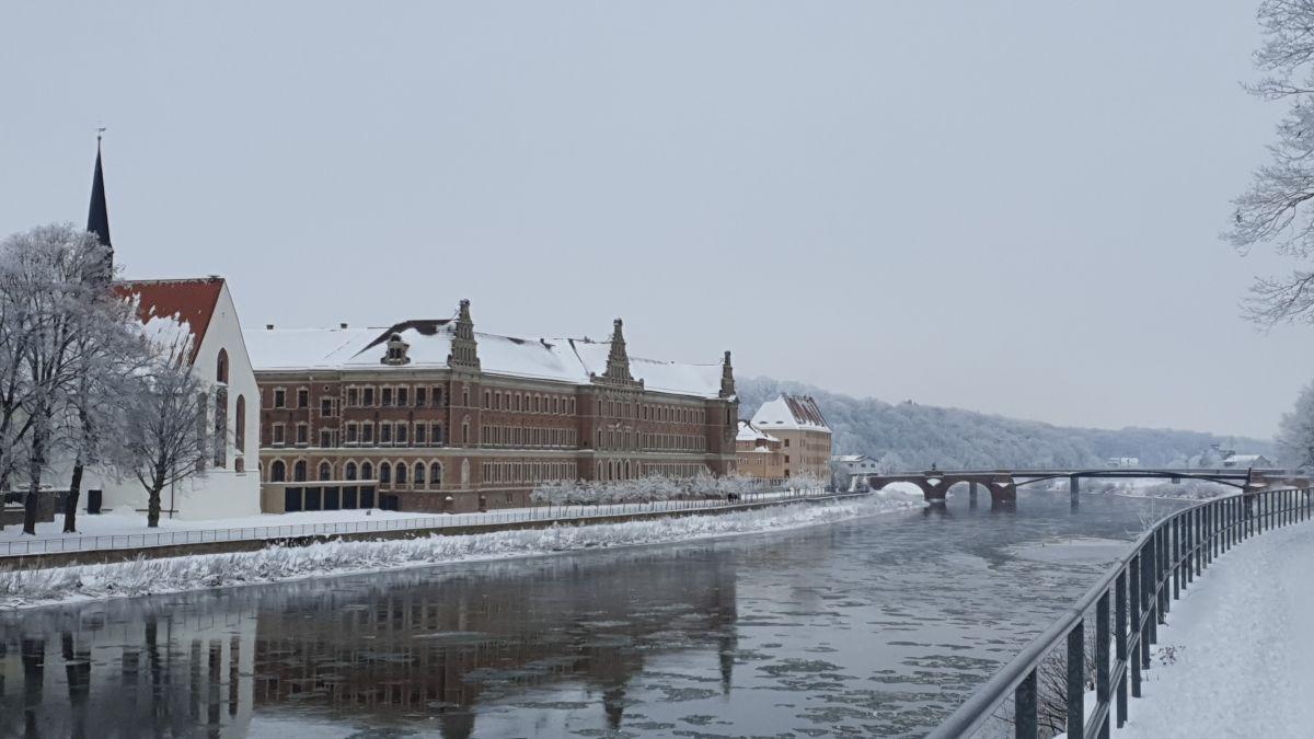 Grimma - Die Pöppelmannbrücke im Winter